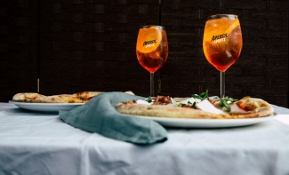 Aperol sprits and pizzas - Summer marketing compaing for Spaghetti house with Aperol Sprits