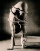 Ballet dancer wrapped in rope